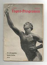 Orig.PRG    Olympische Spiele BERLIN 1936  -  09.08. //  mit 5 Final`s ! RARITÄT