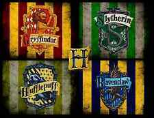 HARRY POTTER - Hogwarts House Banners Large Wall Art Canvas Picture 20 x 30""