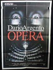Manifesto 2 Fogli - Opera di Dario Argento, con Cristna Marsillach, D.Nicolodi