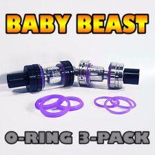 """BABY BEAST - PURPLE  Silicone O-Rings / Seals """"3-Pair"""" TFV8 SMOK USA  #inkedATTY"""