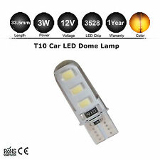 1x T10 194 168 W5W 5630 6 SMD SILICA LED Light Bulbs Amber Yellow Orange 12V DC