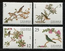 CHINA TAIWAN 2001 Vögel Gemälde Palastmuseum III Birds Paintings 2696-2699 MNH