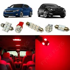 9x Red LED lights interior package kit for 2011-2016 Kia Optima KO1R