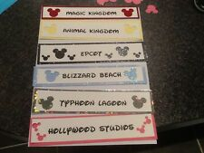 Disney Scrapbook Header .. you will recieve 6 Headers 1 for Each Park.