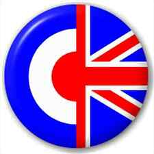 Small 25mm Lapel Pin Button Badge Novelty Uk Mods / Union Flag
