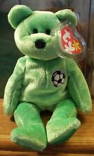 Ty Beanie Babies Original Kicks World Cup Bear DOB August 16, 1998 MWMT in a Box