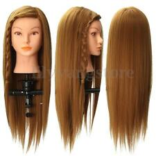 20'' Cosmetology Long Hair Hairdressing Mannequin Training Head Model + Clamp