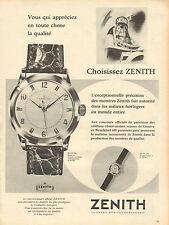 Publicité Advertising 1957  Montre ZENITH