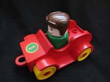 Lego Duplo 2620 Vintage SPORTS CAR & Driver 100% Complete Set 1980 Retired RARE
