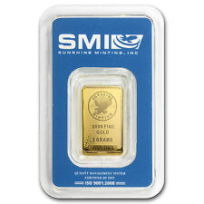 5 Gram Sunshine Minting Gold Bar - TEP Packaging - SKU #83065