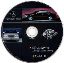 Mercedes Benz W140 Service Manual Repair Workshop S500 S600 S420 CL500 500 SEL