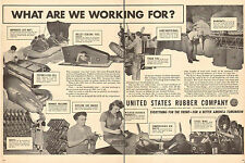 1943 WW2 AD United States Rubber Co. War Production Life rafts Gas Masks 041516
