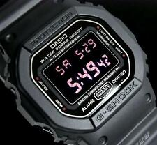 CASIO G-SHOCK, DW5600MS-1 DW-5600MS-1, MATTE MILITARY ARMY BLACK, NEG DISPLAY