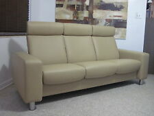 Ekornes Stressless Sofa Couch Leather Modern Medium PAUSE Paloma Olive? NEW