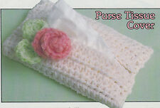 Crochet Pattern ~ BEAUTIFUL FLOWERED PURSE TISSUE COVER ~ Instructions