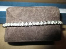 14k White Gold Round Brilliant Diamond Tennis Bracelet