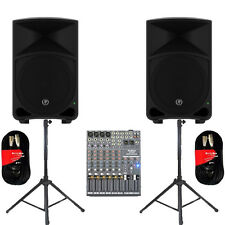 "Mackie THUMP12 Powered 12"" Speakers Mixer Stands & Cables 2000 Watts THUMP12SET5"