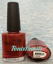 CND VINYLUX VINILUX NAIL POLISH~Lasts 7+ days #120 HOT CHILIS~Shellac Color *NEW