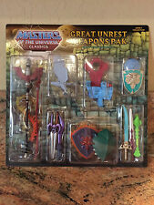 MOTUC Figure Mattel He-Man Motu Classics Great Unrest Weapons Pack Pak Sealed