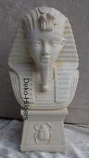 Ägyptische Figur Tutenchamun Skulptur Dekoration Deko Stuckgips Büste  2860 Fa70