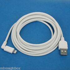 5M 16ft LONG Fast Charger ONLY Right Angle USB Cable WHITE for iPhone 5s 5c 5