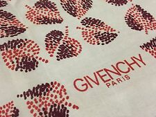 Vintage GIVENCHY Paris Floral SILVER Gray Fall Pastel Brown 100% Silk Scarf 22""