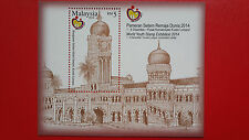 Malaysia M/S - World Youth Stamp Exhibition 2014 ( Sultan Abdul Samad Building )
