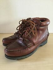 Vintage Timberland Waterproof Boots Brown Leather Lace Up Ankle Womens 6.5-7