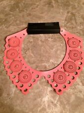 H&M CONSCIOUS TREND DIVIDED COLLAR NECKLACE BIB TRIBAL AZTEC PERFORATION NWT