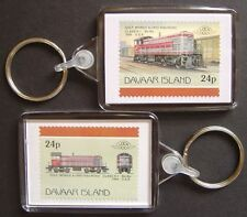 1940 Gulf Mobile & Ohio Railroad Class S-1 Train Stamp Keyring (Loco 100)