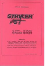 STRIKER 12 Shot 12 Guage Revolving Shotgun Owners Manual Handbook