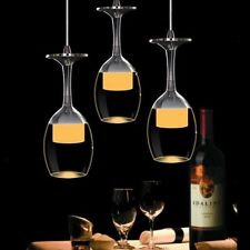Wine Glass LED Ceiling Bar Light Chrome Fixture Pendant Lamp Lighting Chandelier