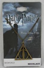 Harry Potter The Deathly Hallows Logo Pendant Necklace Bronze Toned Chain 18""