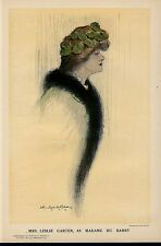 MRS. LESLIE CARTER AS MADAME DU BARRY SILENT FILM AND STAGE ACTRESS AMERICAN