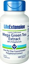 Life Extension Mega Green Tea Extract 100 Capsules Veg Lightly Caffeinated Caps