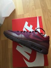 GENUINE NIKE AIR MAX 1 ULTRA FLYKNIT UK SIZE 11.5 BRAND NEW WITH BOX Maroon