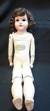 Superba Doll with Leather Jointed body  Porcelain Head with hair and no Eyes