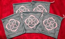 Kendra Scott Set of 5 Pouches Blue KS Bags Jewelry New Storage Pouch Fashion