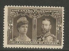 Canada 1908 Quebec Tercentenary 1/2c black brown--Attractive Topical (96) MH