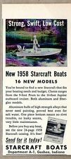 1958 Print Ad Starcraft Aluminum Boats Man Fishing Goshen,IN