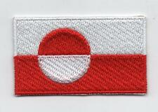 Embroidered GREENLAND Flag Iron on Sew on Patch Badge HIGH QUALITY APPLIQUE