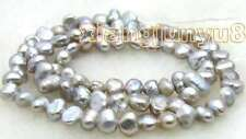 """SALE Small 6-7mm Natural Gray Freshwater BAROQUE Pearl Loose Beads 14""""-los463"""