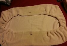 CHANGING PAD FLEECE CREAM COVERS WITH ELASTIC