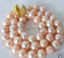 AA+ Genuine 8-9mm Pink Akoya Cultured Pearl Necklace 18Inch