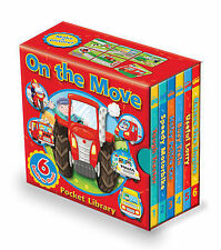 On the Move: Pocket Library by Peter Lawson NEW books (Board book, 2010)