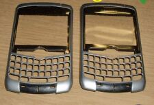 2 X Genuina Original Blackberry 8300 Panel Frontal Carcasa Plata grado A/b