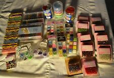 LOT 8+  LBS NIP JEWELRY MAKING SEED BEADS, GLASS & MORE MANY COLORS ESSENTIALS