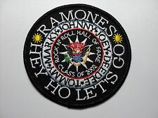 RAMONES  HEY HO LETS GO  EMBROIDERED PATCH IRON OR SEW