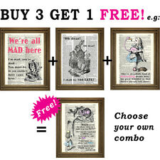 ALICE IN WONDERLAND Different Reality: Vintage Dictionary Page Art Print