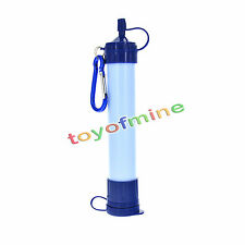 Portable Water Filter Purifier Outdoor Camping Survival StrawGear White Blue